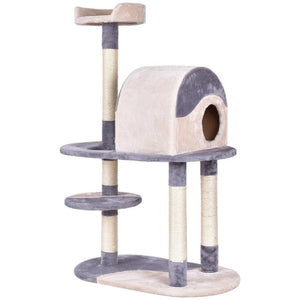 "Golpus 48"" Cat Tree Kitten Activity Tower Pets Furniture Condo with Perches Wood Cat Jumping Climbing Kitty Tower Posts PS7014"