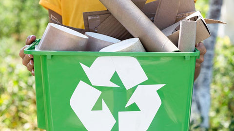 Recycle paper and cardboard frees your breath