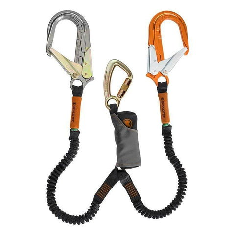 SKYLOTEC SKYSAFE PRO TWIN LANYARD Lanyards SKYLOTEC T/ACTION KARABINER & 65MM GATE ALLOY & STEEL SCAFFOLD HOOK