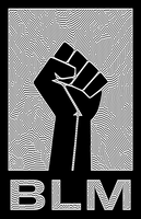 BLM Poster - Black and White Line Art Fist