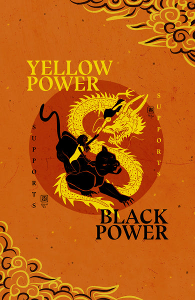 BLM Poster - Yellow Power Supports Black Power