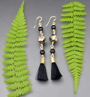 Agate Tassel Earrings