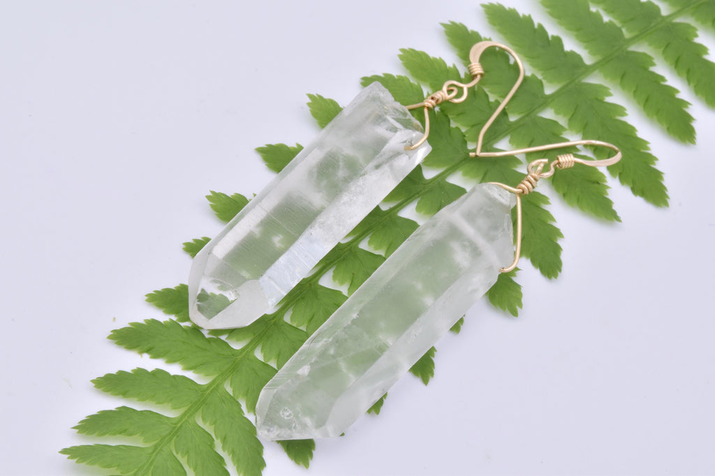 Large Quartz Earrings