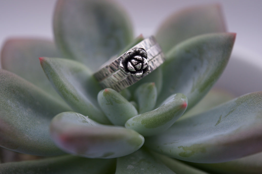 Succulent Stacking Rings Size 7.5