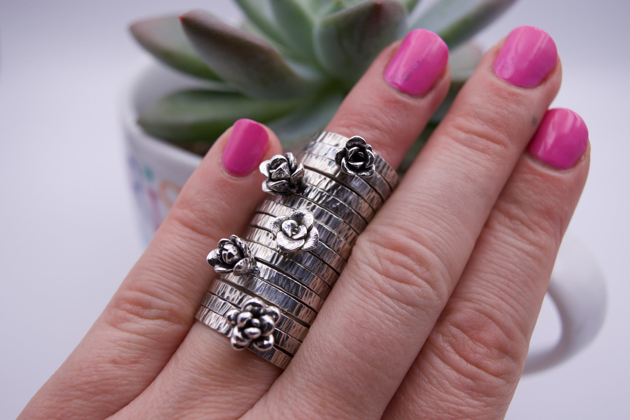 Succulent Stacking Rings Size 6