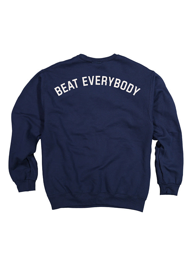 Beat Everybody Youth Crewneck - Navy