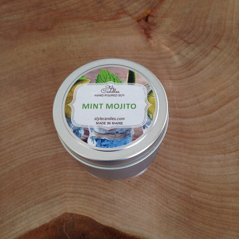 Mint Mojito Soy Travel Tin by Style Candles