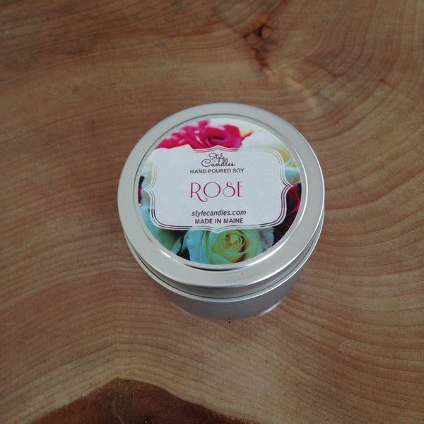 Rose Soy Travel Tin by Style Candles