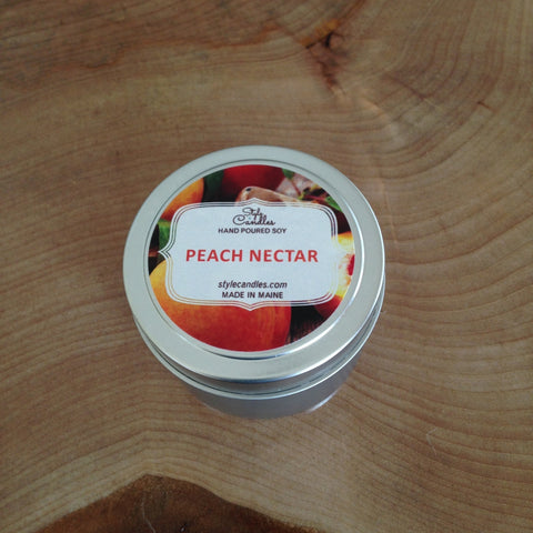 Peach Nectar Soy Travel Tin by Style Candles