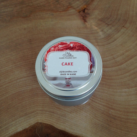 Cake Soy Travel Tin by Style Candles
