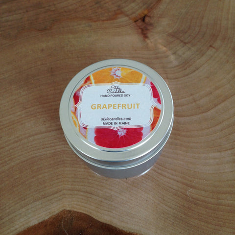 Grapefruit Travel Tin by Style Candles