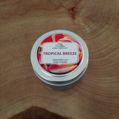 Tropical Breeze Soy Travel Tin by Style Candles