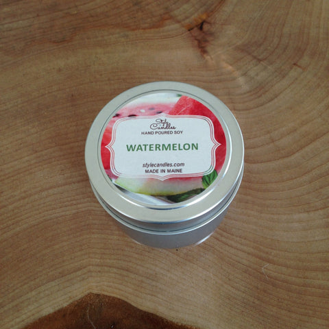 Watermelon Soy Travel Tin by Style Candles