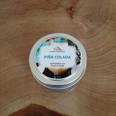 Piña Colada Soy Travel Tin by Style Candles