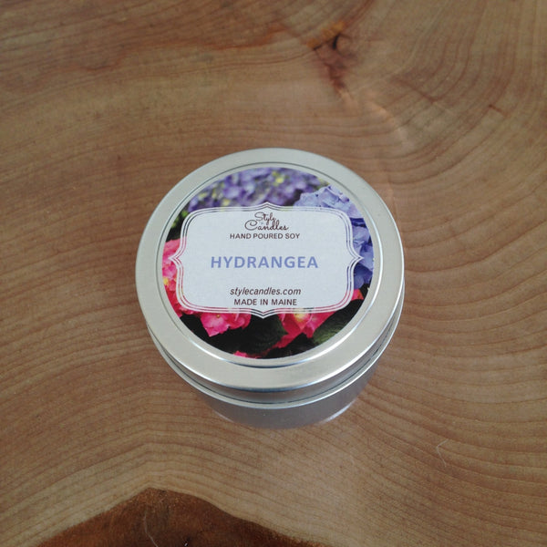 Hydrangea Soy Travel Tin by Style Candles