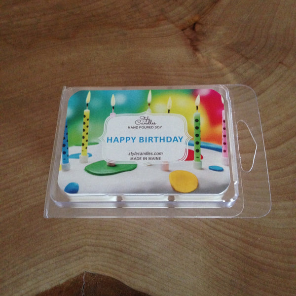 Happy Birthday Soy Wax Melts by Style Candles