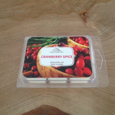 Cranberry Spice Soy Wax Melts by Style Candles