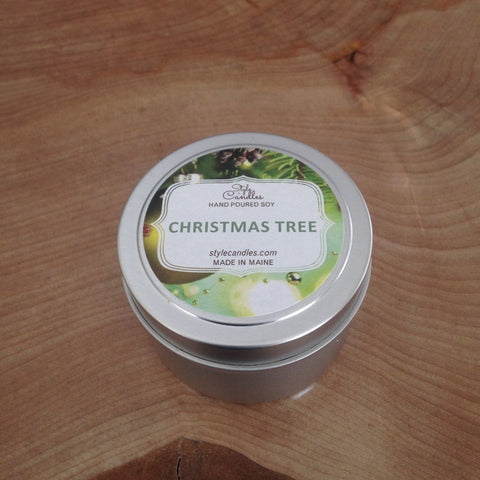Christmas Tree Soy Travel Tin by Style Candles
