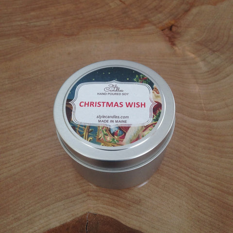 Christmas Wish Soy Travel Tin by Style Candles