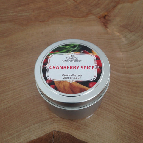 Cranberry Spice Soy Travel Tin by Style Candles