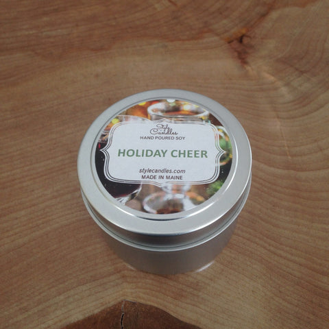 Holiday Cheer Soy Travel Tin by Style Candles