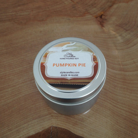 Pumpkin Pie Soy Travel Tin by Style Candles