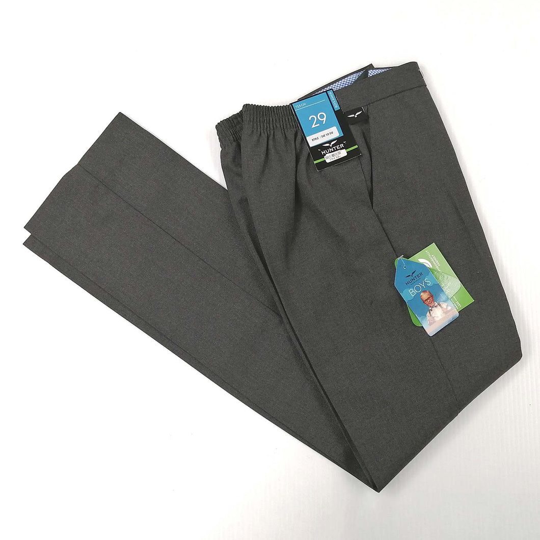 Boys Trousers Half Elastic Seniors Grey