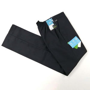 Boys Trousers Half Elastic Seniors Navy