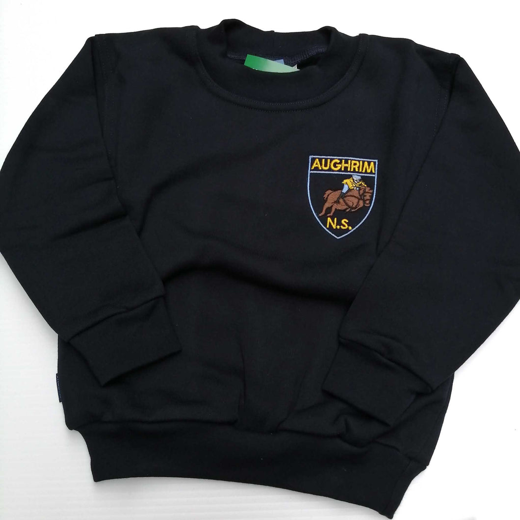 Crested Sweatshirt Round Neck Navy