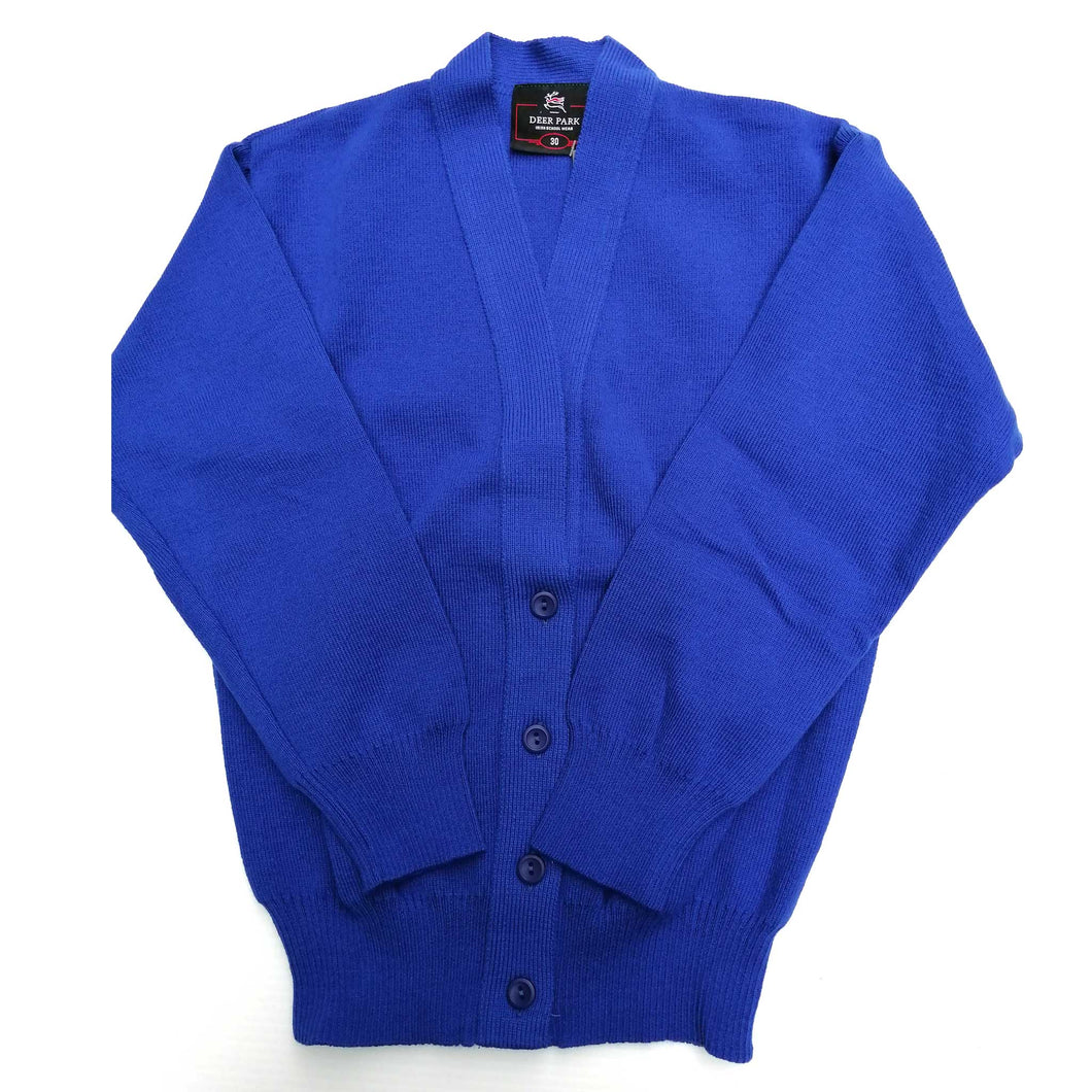Cardigan for Girls Royal Blue Acrylic