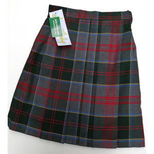 Girls Skirt Tartan Zipped Pocket 11496