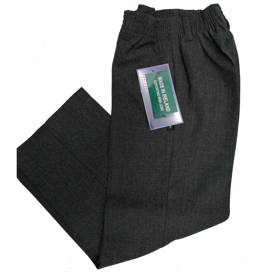 Boys Trousers All Elastic Waist Grey