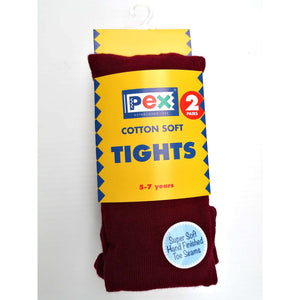 Girls Tights Twin Pack Wine