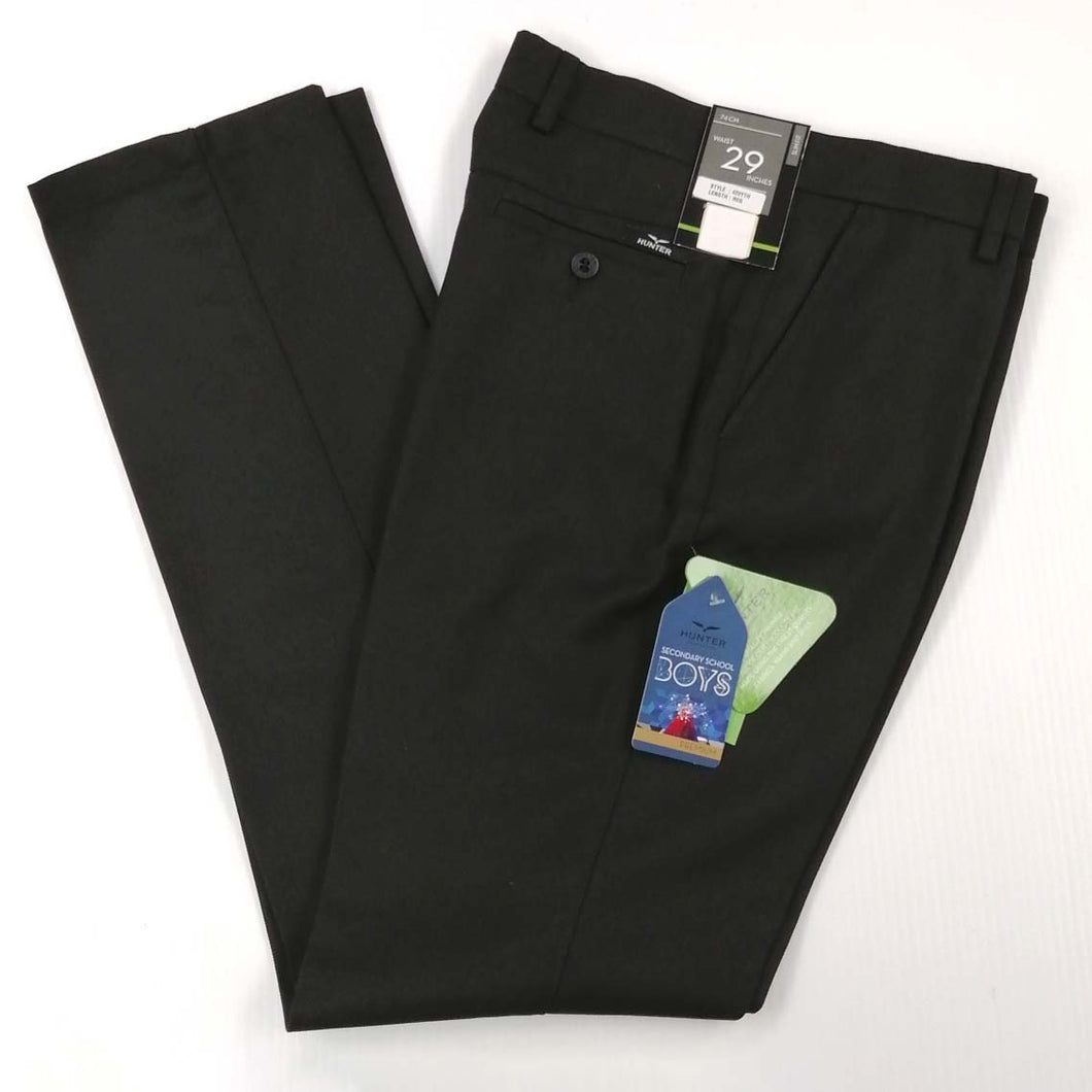 Boys Slacks Slim Fit Black