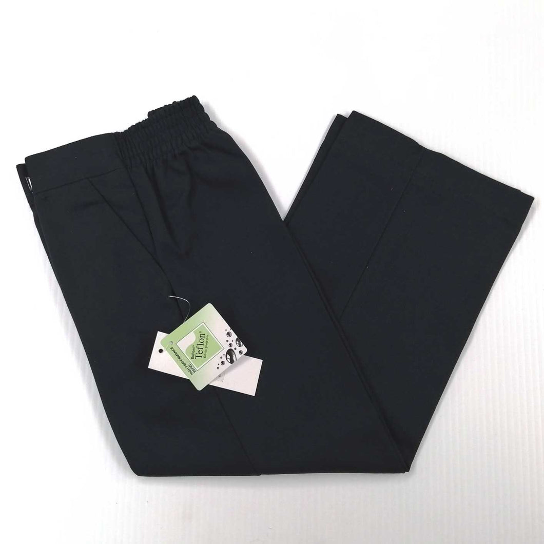 Boys Trousers Half Elastic Waist Navy