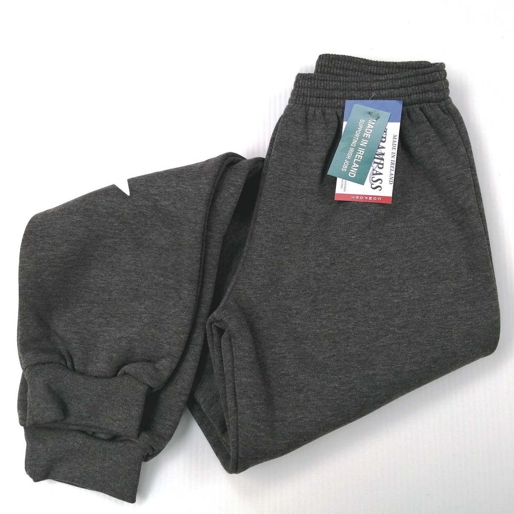 Jog Pants with Cuff, Fabric as Sweatshirt, Grey