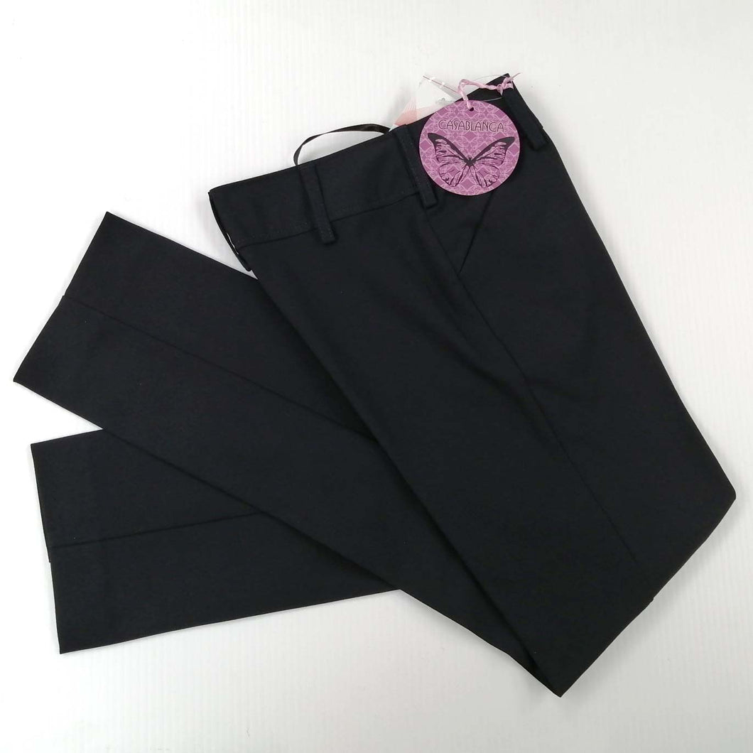 Girls Trousers Fitted Navy