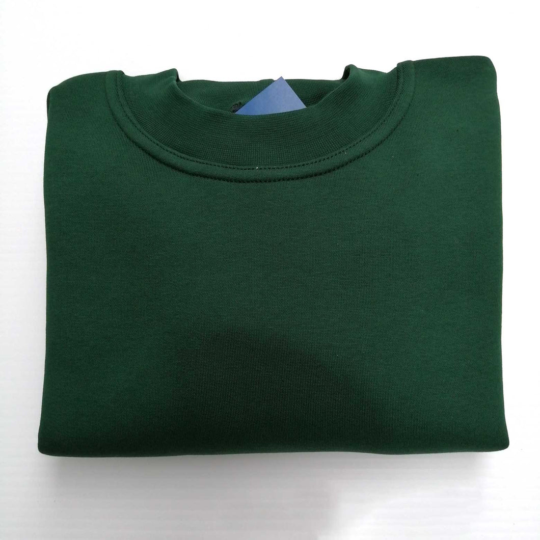 Sweatshirt Round Neck Bottle Green