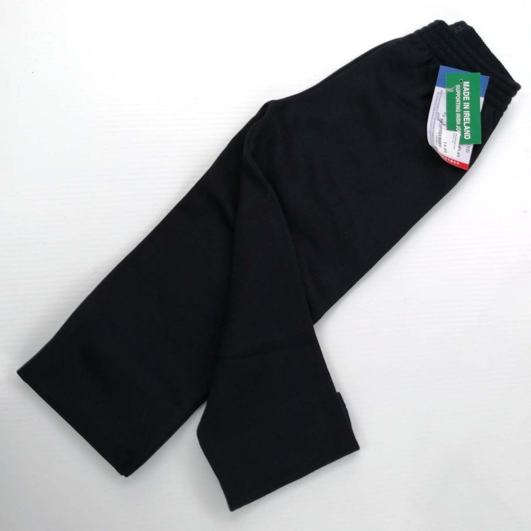 Jog Pants No Cuff, Fabric as Sweatshirt, Navy