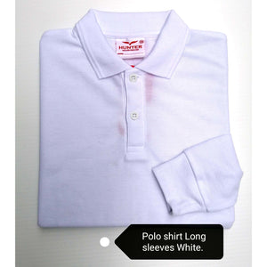 Collar T-Shirt Long Sleeve White