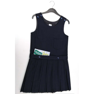 Girls Pinafore Button at Shoulder Navy