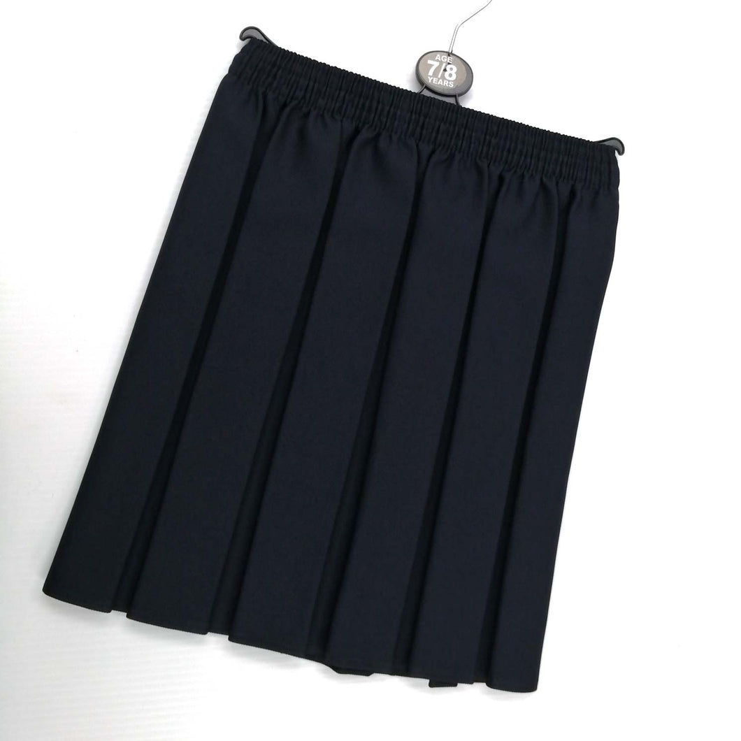 Girls Skirt 201 Elastic Waist Navy