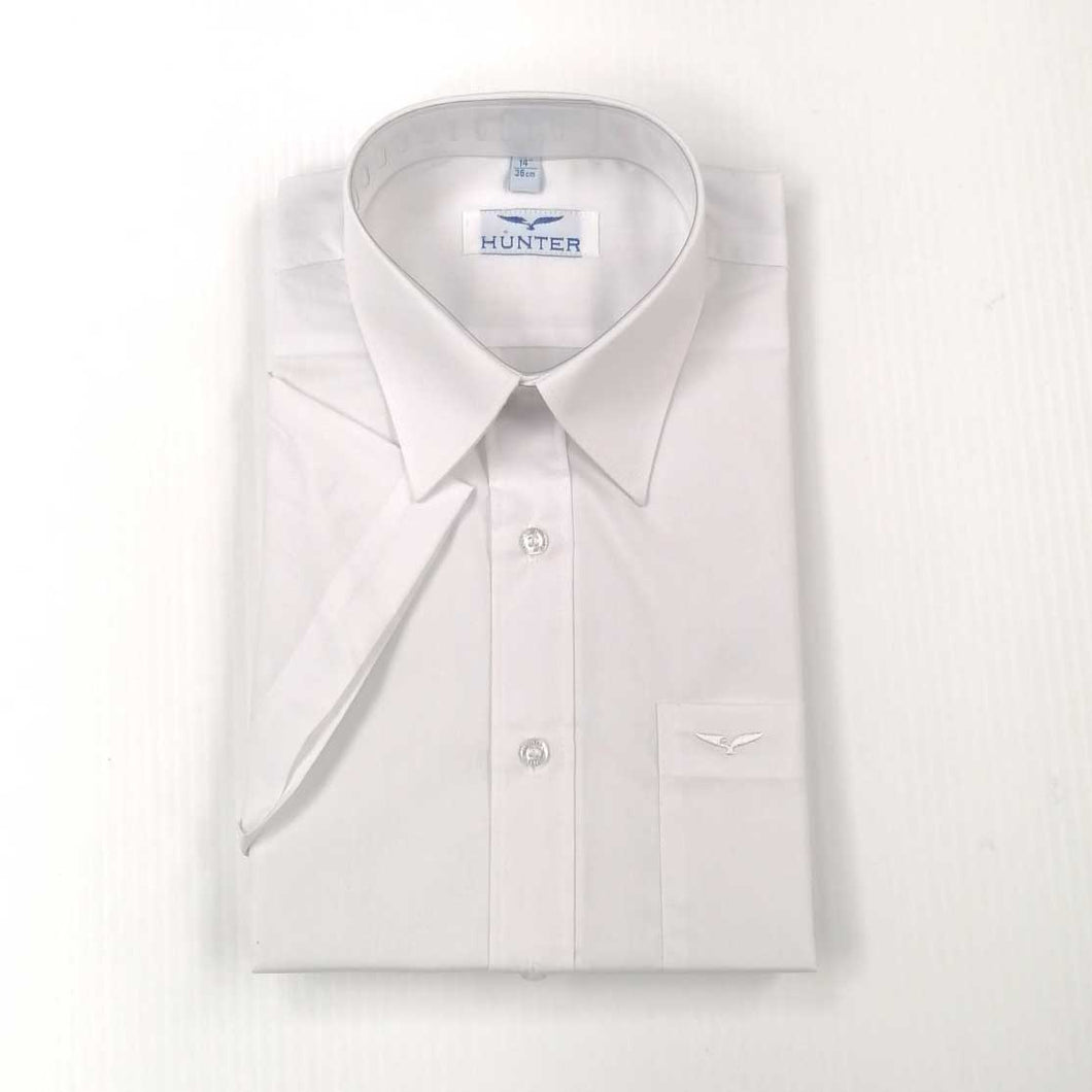 Boys Shirt Short Sleeve White