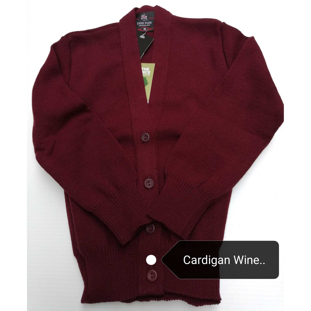 Cardigan for Girls Wine Acrylic