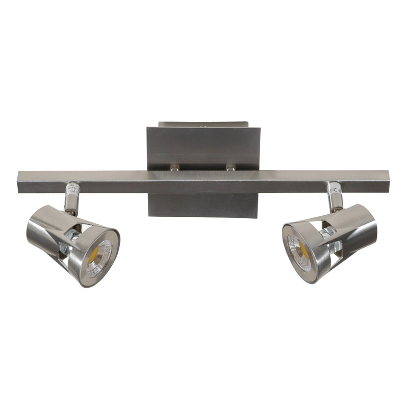 Duero Spotlight Double Brushed Chrome