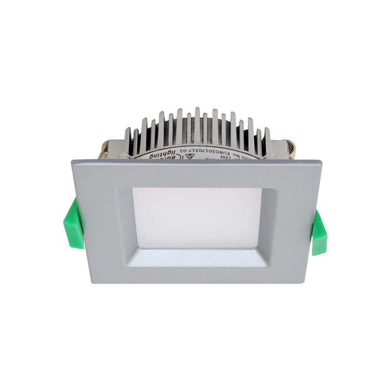 GEO12S - Fixed Recessed Downlight Square CCT 12W