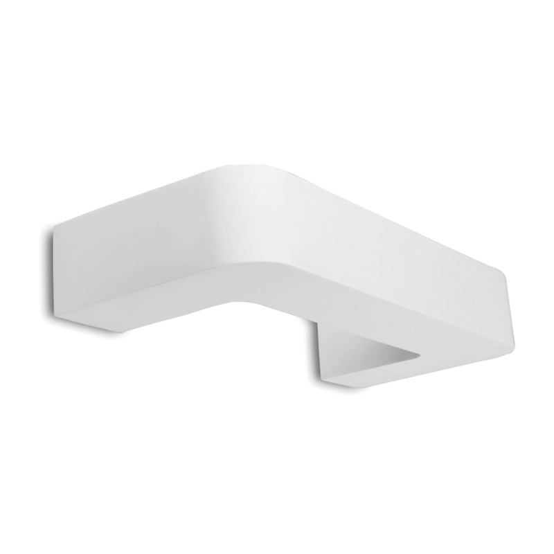 Chameleon - Paintable Plaster, Surface Mounted Wall Light