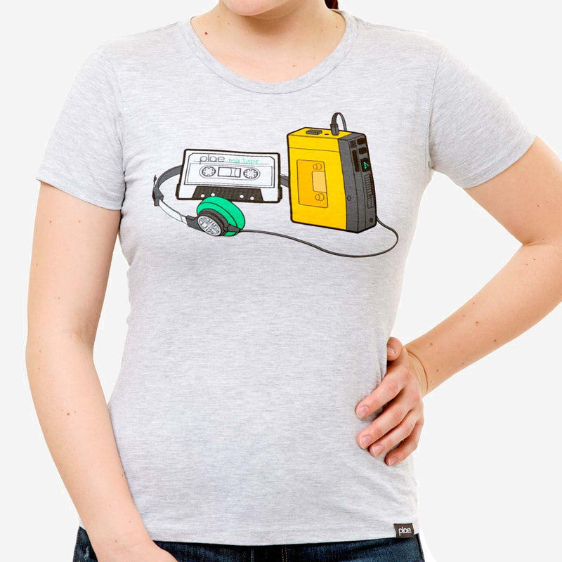 womens mixtape tee - athletic grey heather