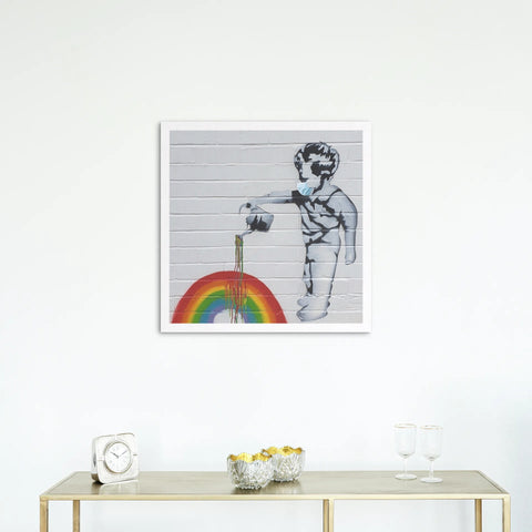 'Rainbow Boy' Fine Art Printed Canvas (40cm sq. x 4cm)