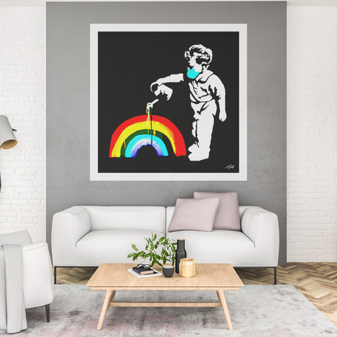 'Rainbow Boy' Hand Signed 12 left of 20 no. Limited Edition Print Run (1m sq.)